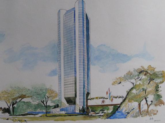 哈尔滨建筑手绘
